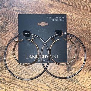 NEW Gold + Silver Double Hoop Earrings